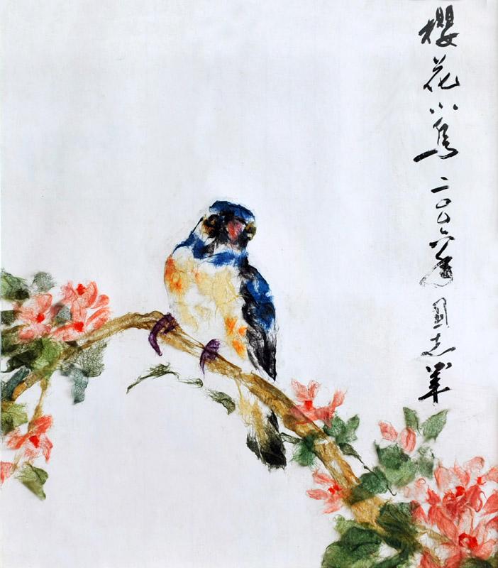 吴国志纸贴画艺术