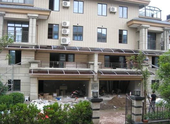 名称:东阳市世纪花城别墅区.; 遮阳雨棚,凯比遮阳雨棚